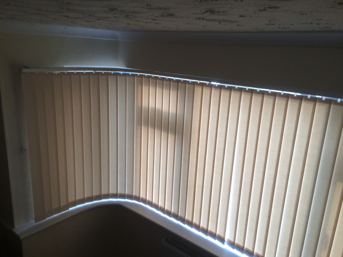 Curved Bay Vertical Blinds In Essex