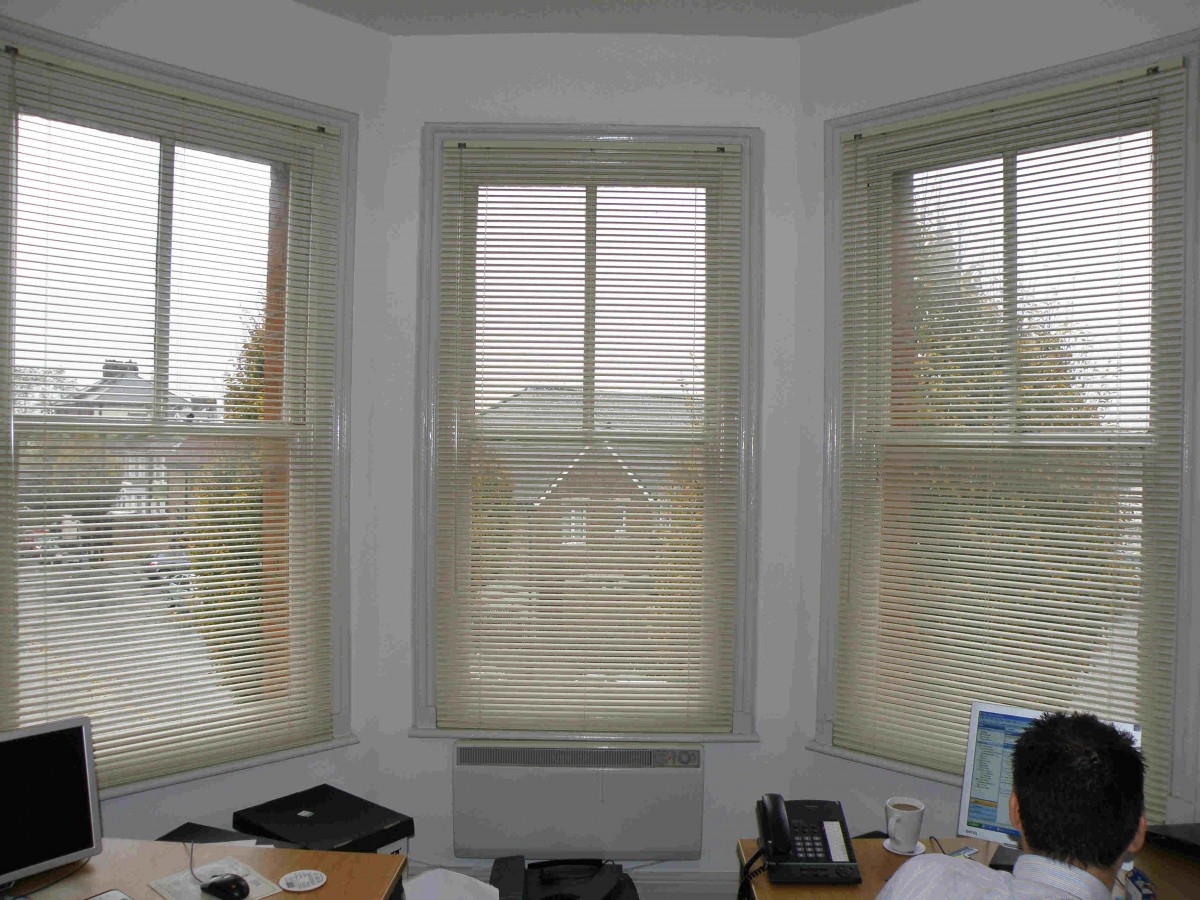 Aluminium Venetians in Office